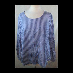 A New Day XXL Plus Size Shirt Top - Blouse, Stripe